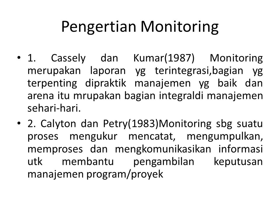 Pengertian Monitoring