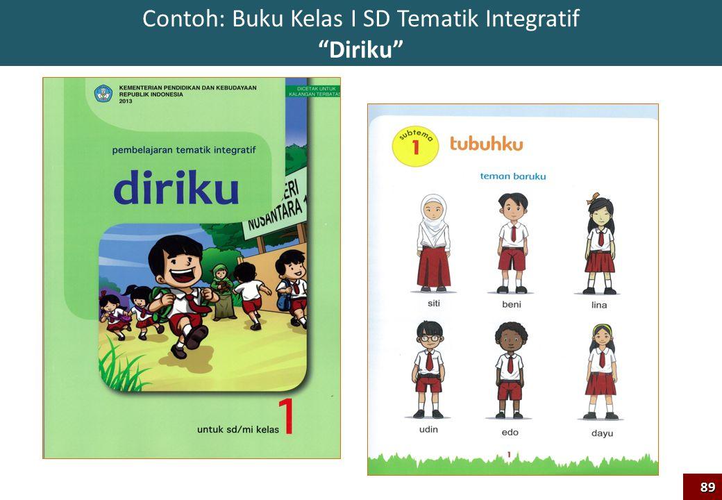 Contoh: Buku Kelas I SD Tematik Integratif Diriku