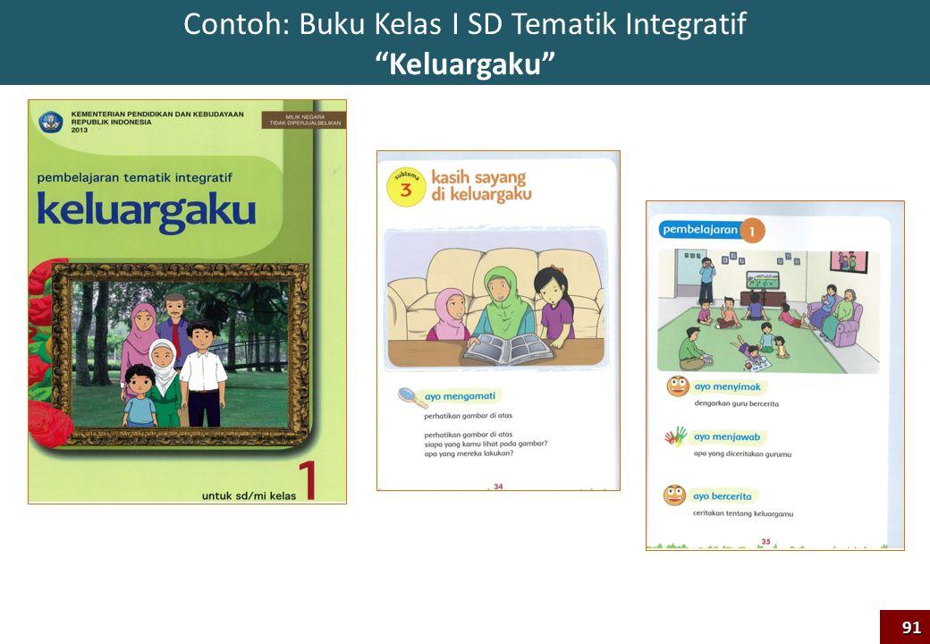 Contoh: Buku Kelas I SD Tematik Integratif Keluargaku