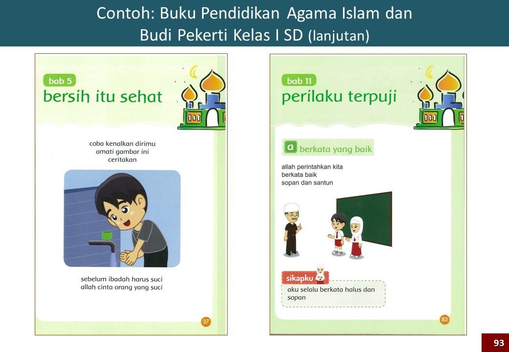 Contoh: Buku Pendidikan Agama Islam dan Budi Pekerti Kelas I SD (lanjutan)