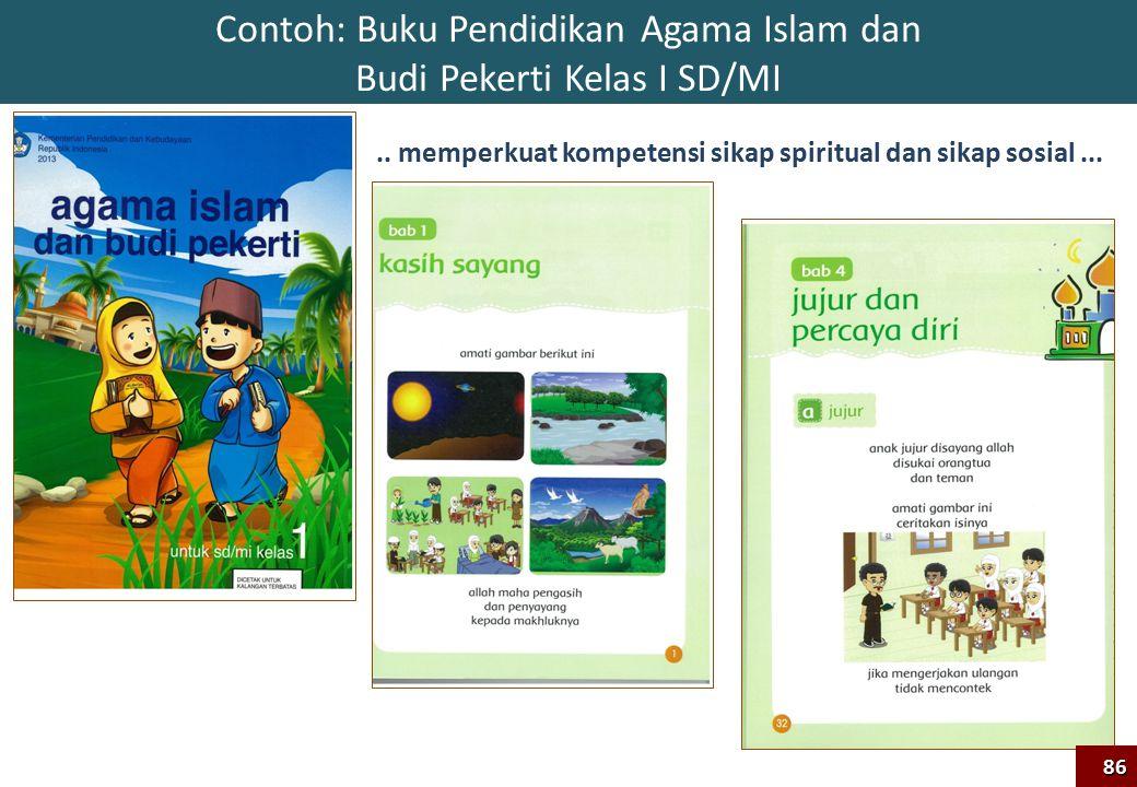 Contoh: Buku Pendidikan Agama Islam dan Budi Pekerti Kelas I SD/MI