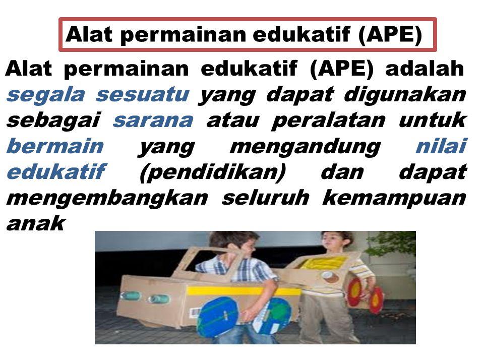 Alat permainan edukatif (APE)