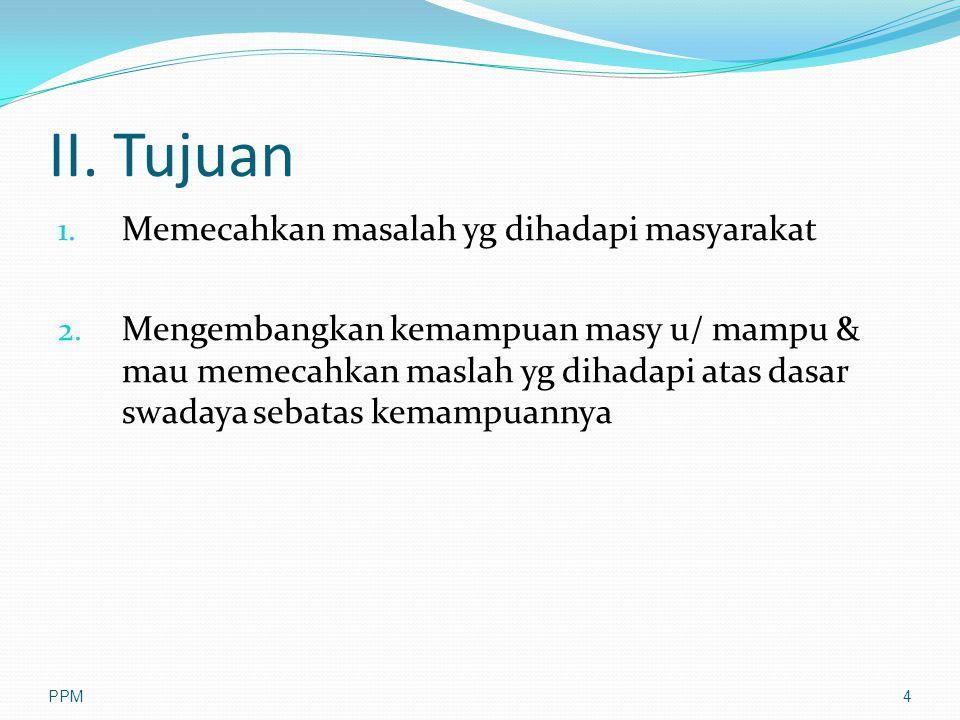II. Tujuan Memecahkan masalah yg dihadapi masyarakat
