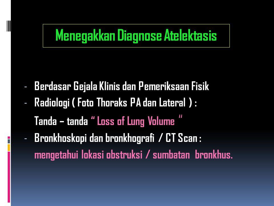 Menegakkan Diagnose Atelektasis