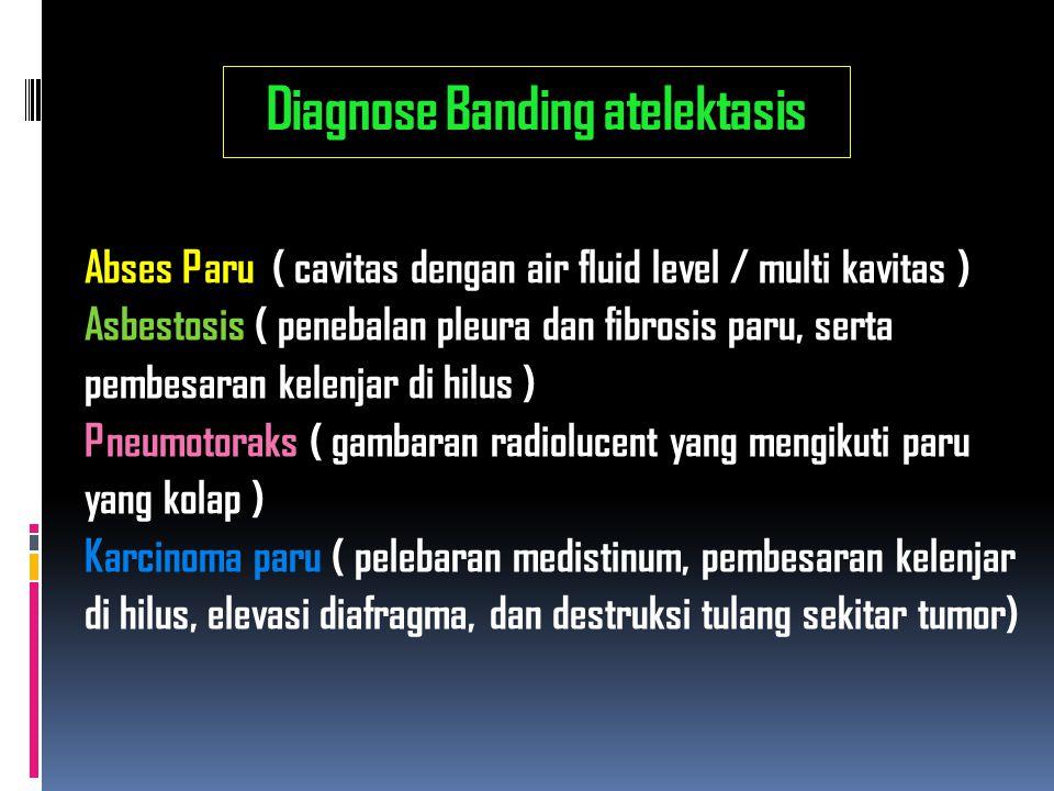Diagnose Banding atelektasis