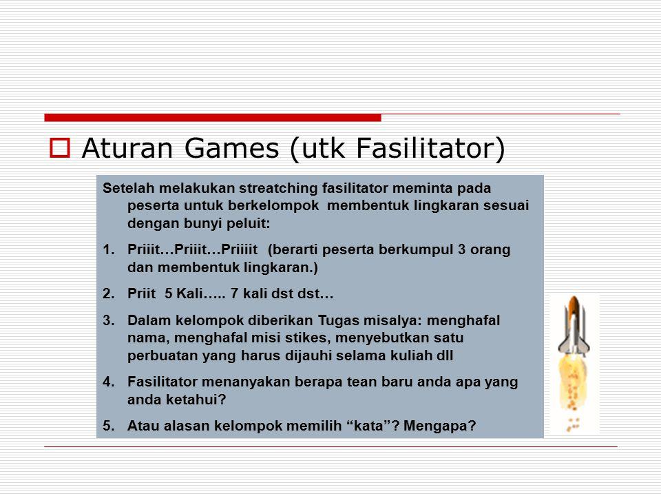 Aturan Games (utk Fasilitator)