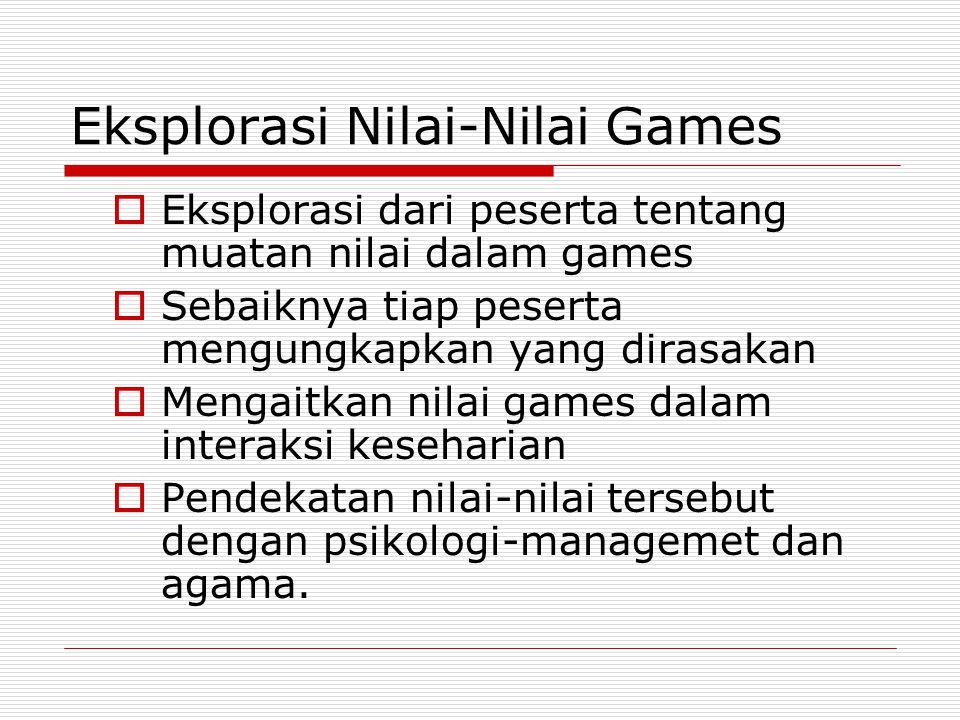 Eksplorasi Nilai-Nilai Games
