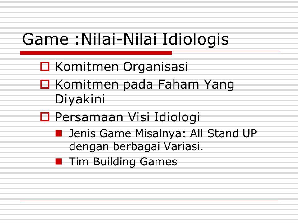 Game :Nilai-Nilai Idiologis