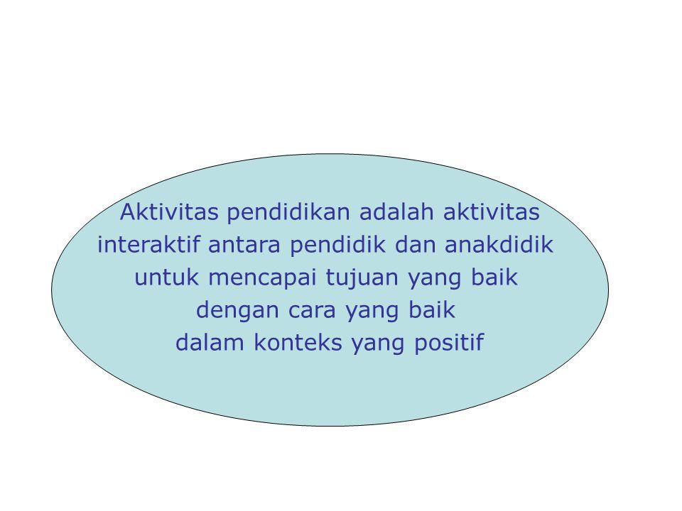 Aktivitas pendidikan adalah aktivitas