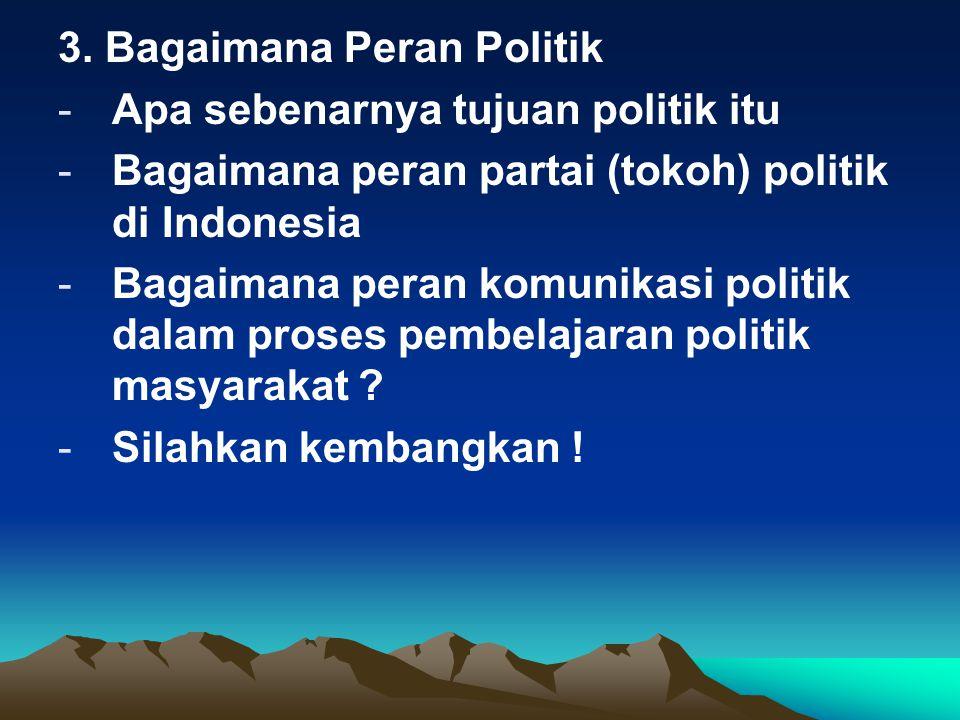 3. Bagaimana Peran Politik