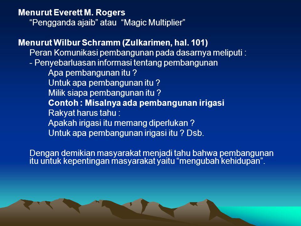 Menurut Everett M. Rogers