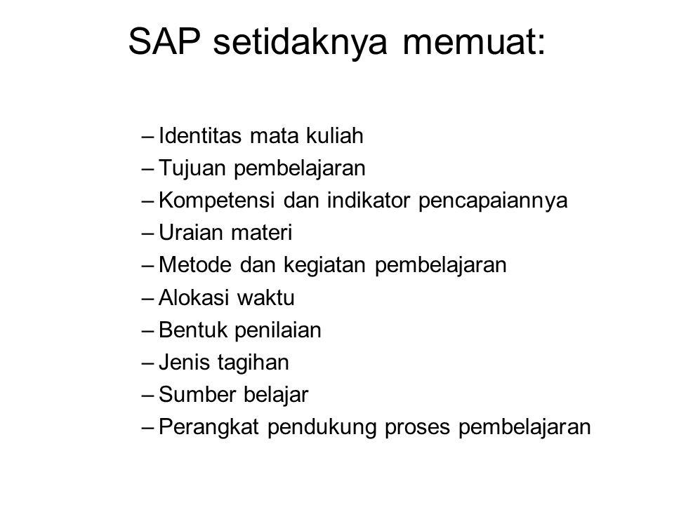 SAP setidaknya memuat: