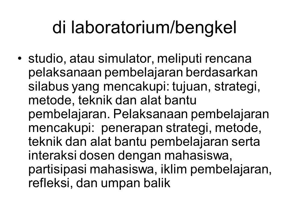 di laboratorium/bengkel