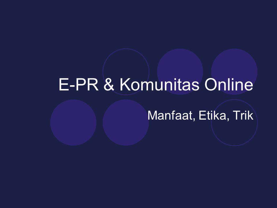 E-PR & Komunitas Online