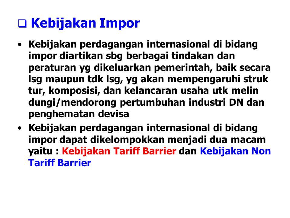 Kebijakan Impor