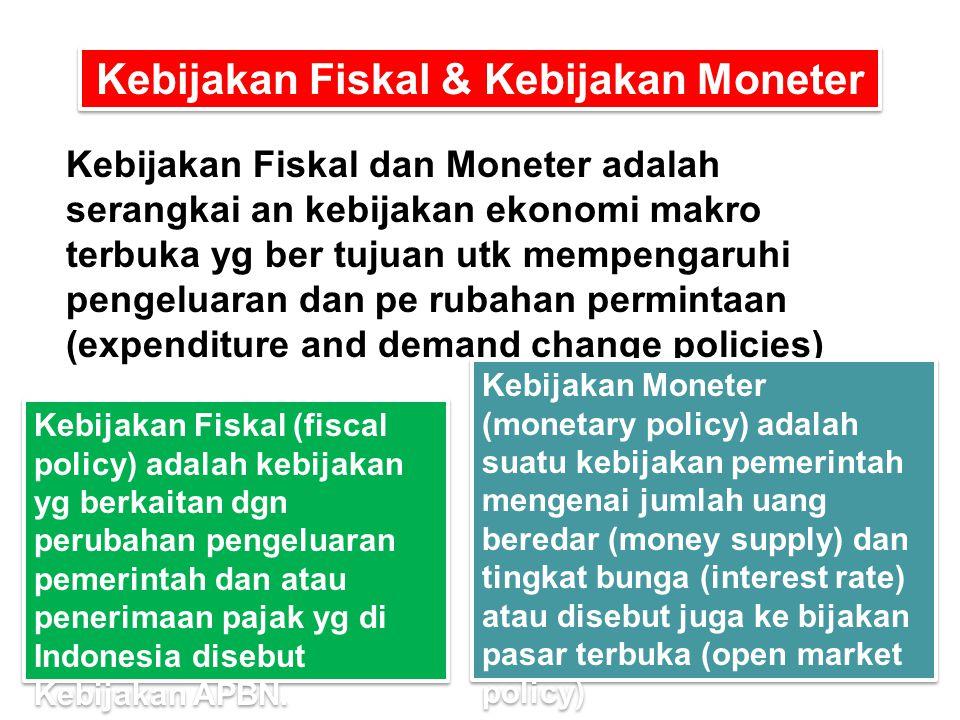 Kebijakan Fiskal & Kebijakan Moneter