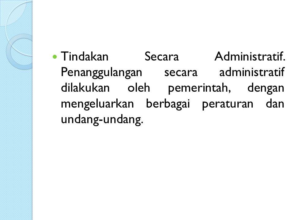 Tindakan Secara Administratif