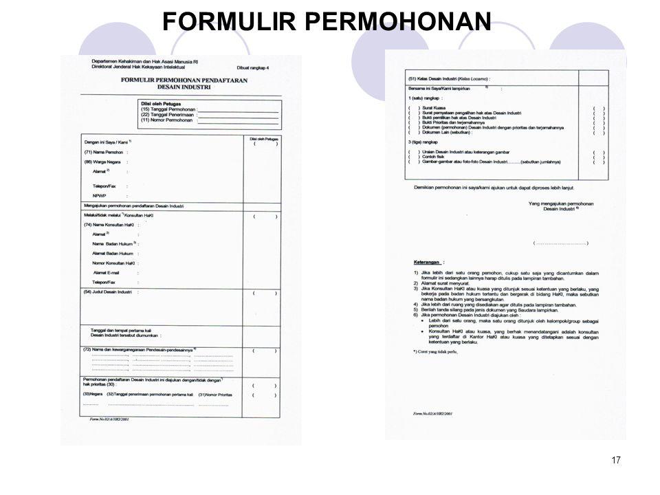 FORMULIR PERMOHONAN 17