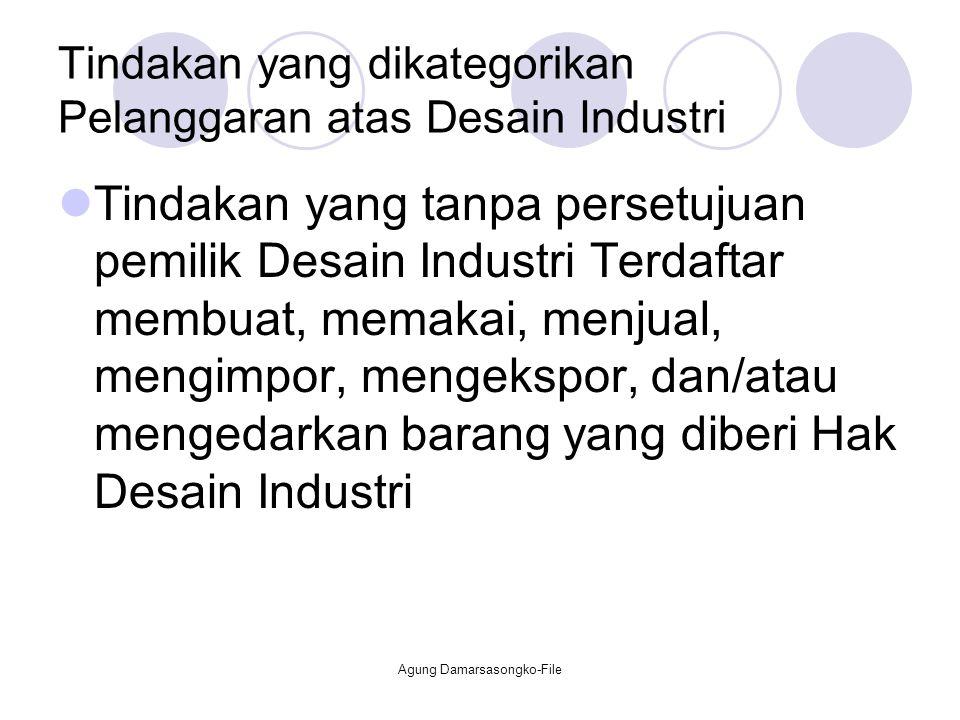 Tindakan yang dikategorikan Pelanggaran atas Desain Industri
