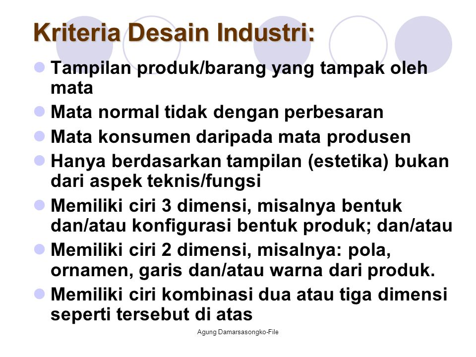 Kriteria Desain Industri:
