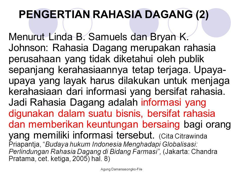 PENGERTIAN RAHASIA DAGANG (2)