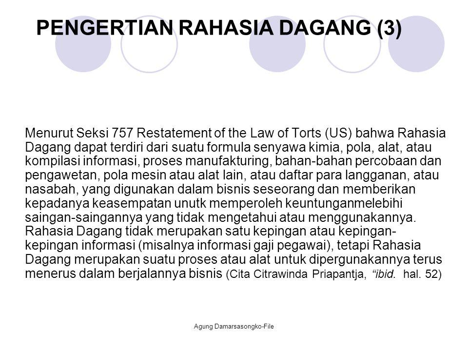 PENGERTIAN RAHASIA DAGANG (3)