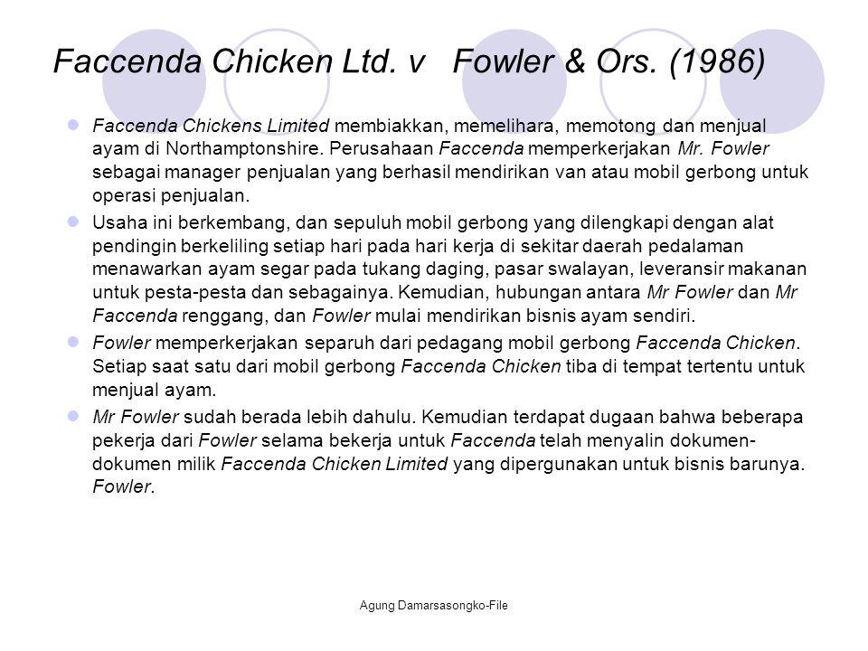 Faccenda Chicken Ltd. v Fowler & Ors. (1986)