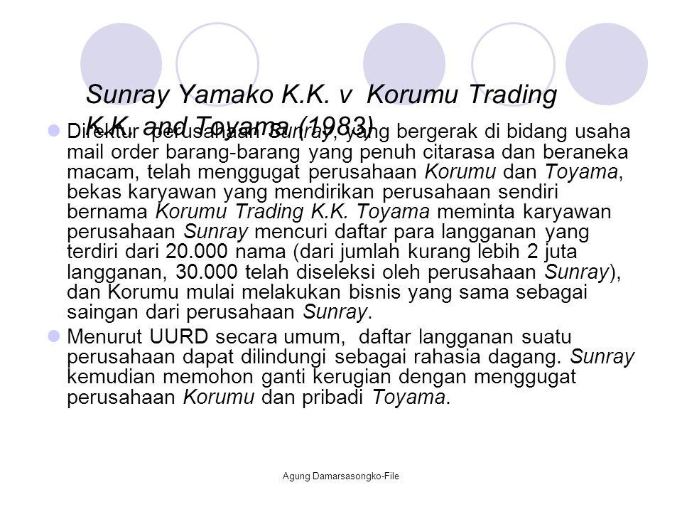 Sunray Yamako K.K. v Korumu Trading K.K. and Toyama (1983)