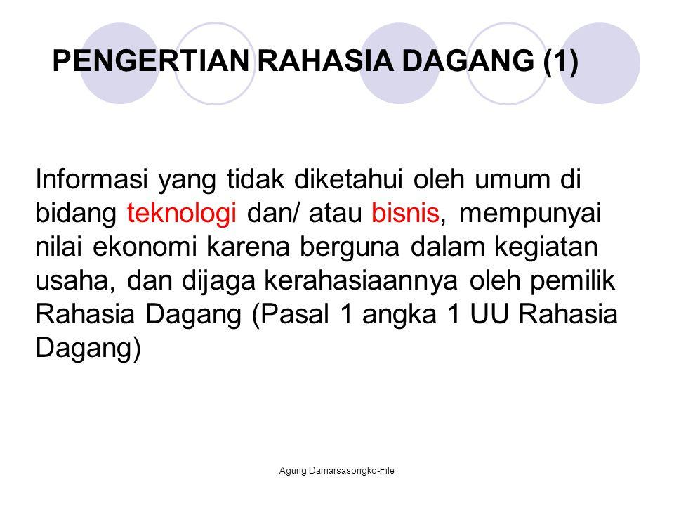 PENGERTIAN RAHASIA DAGANG (1)