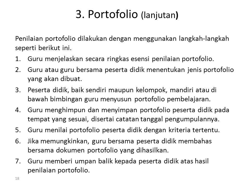 3. Portofolio (lanjutan)