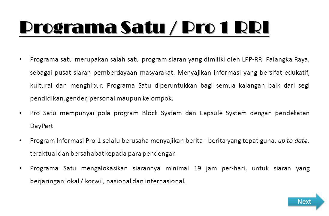 Programa Satu / Pro 1 RRI