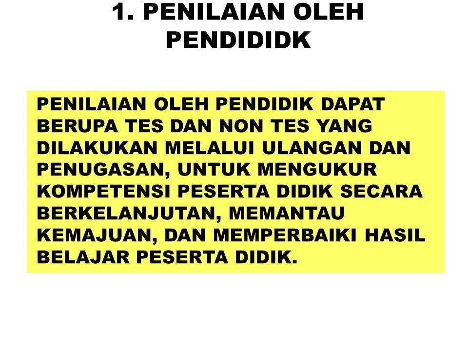 1. PENILAIAN OLEH PENDIDIDK