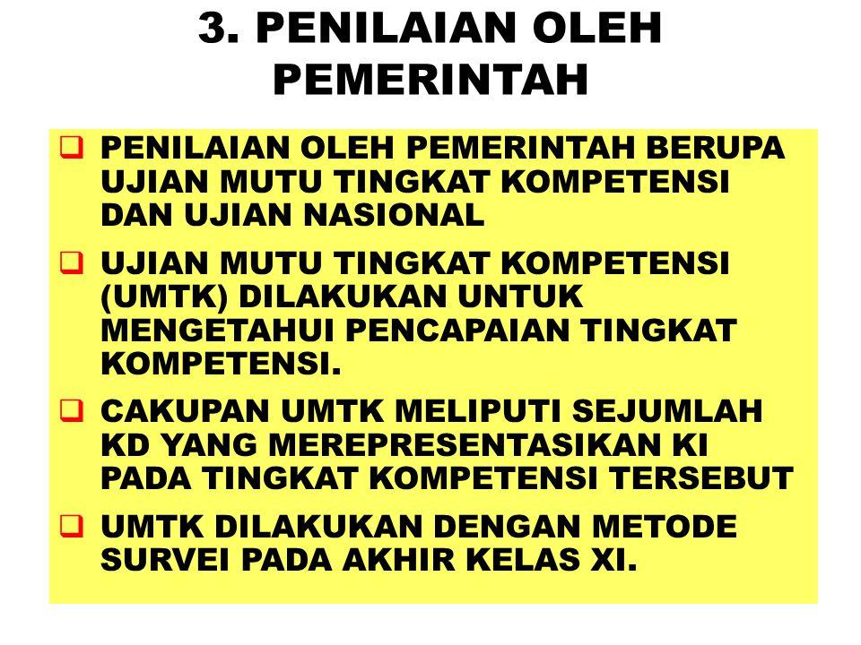 3. PENILAIAN OLEH PEMERINTAH