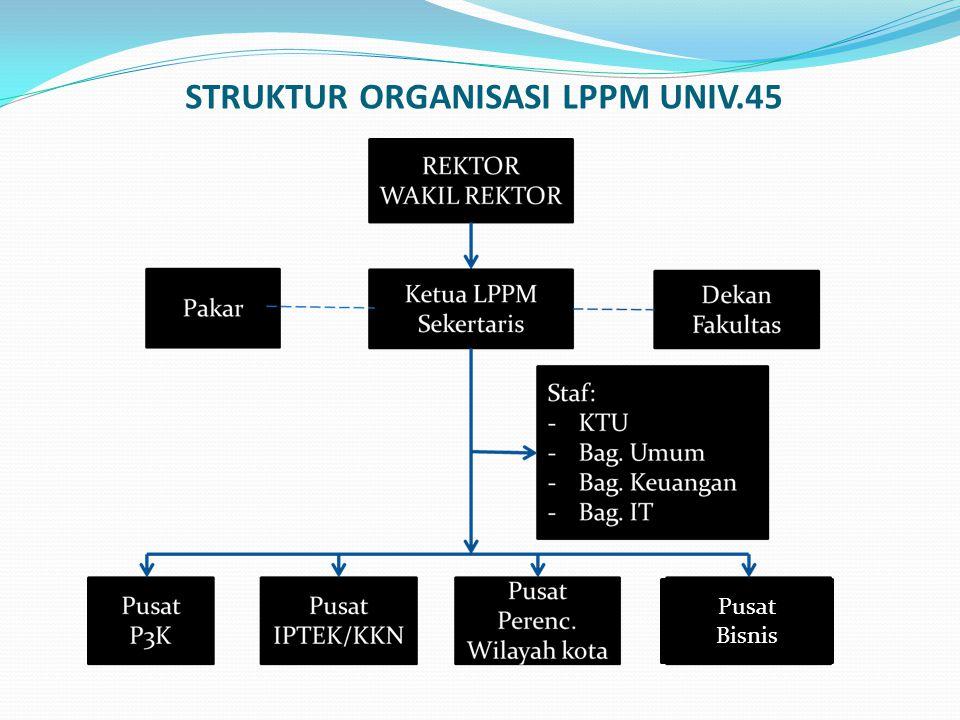 STRUKTUR ORGANISASI LPPM UNIV.45