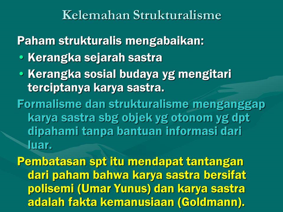 Kelemahan Strukturalisme