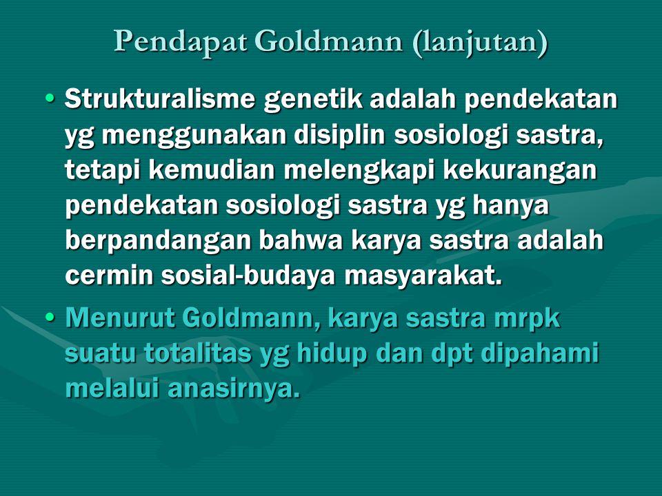 Pendapat Goldmann (lanjutan)
