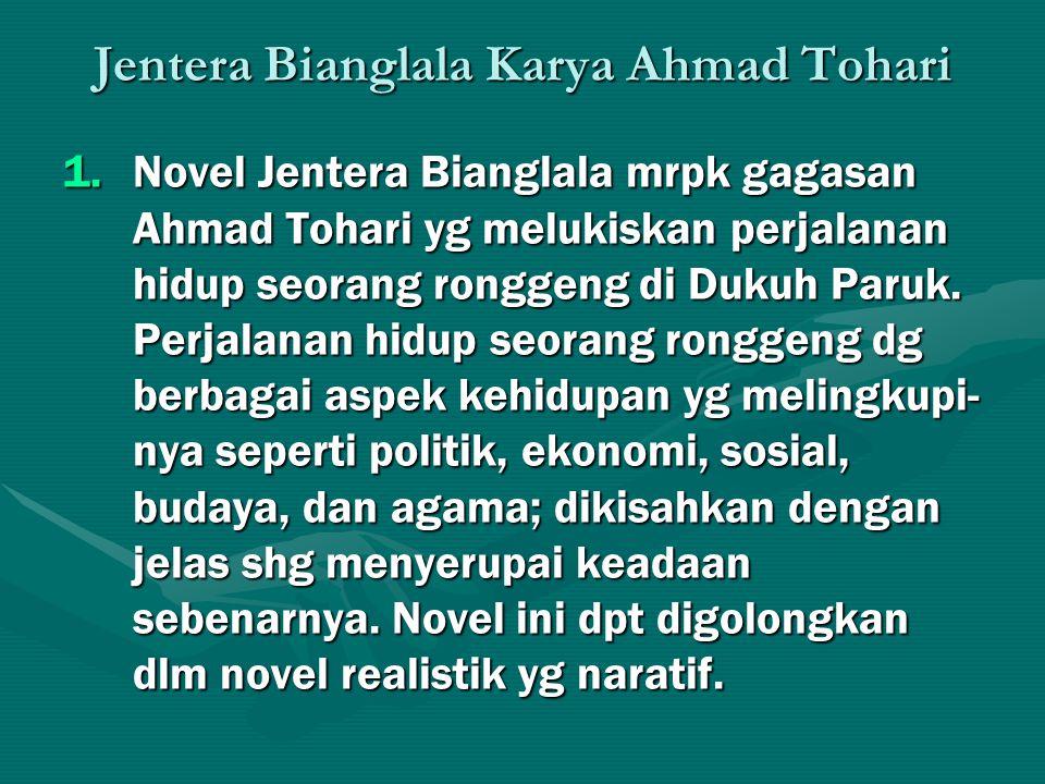 Jentera Bianglala Karya Ahmad Tohari