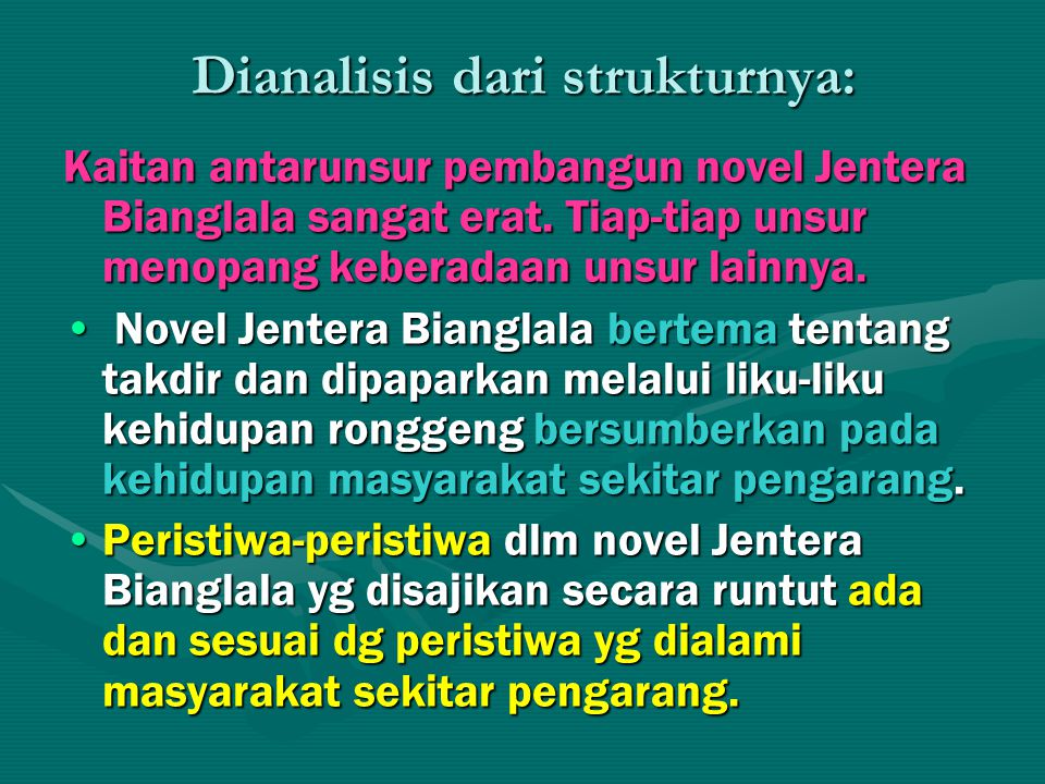 Dianalisis dari strukturnya: