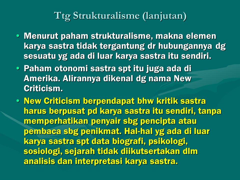 Ttg Strukturalisme (lanjutan)