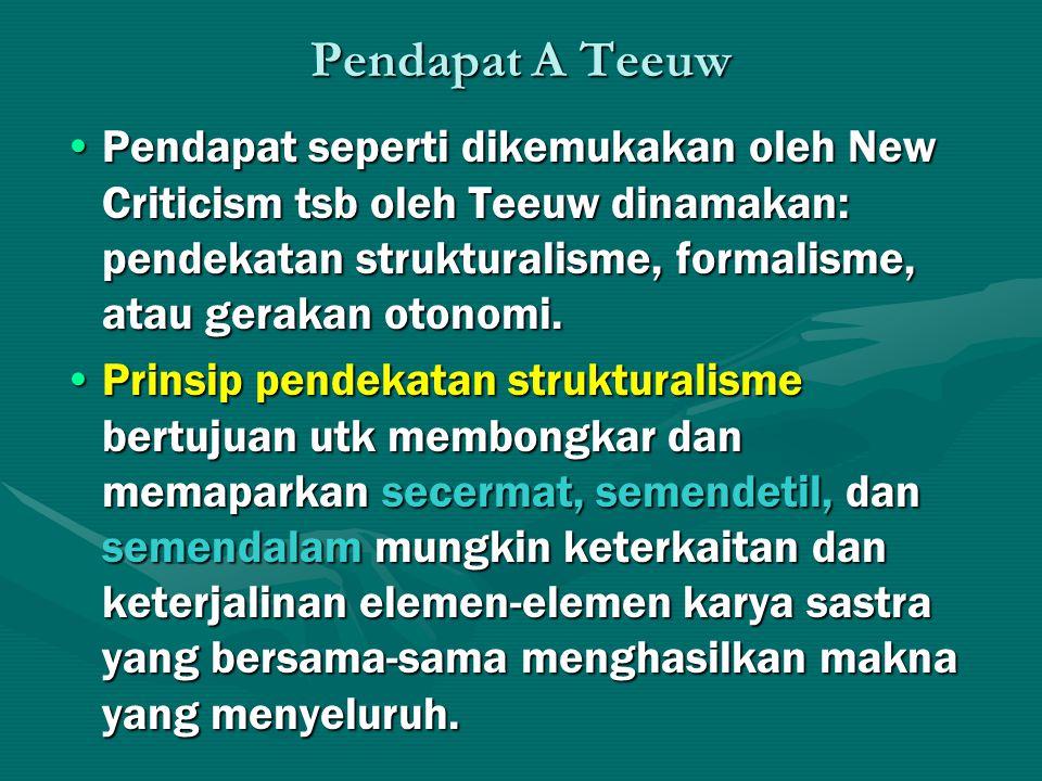 Pendapat A Teeuw