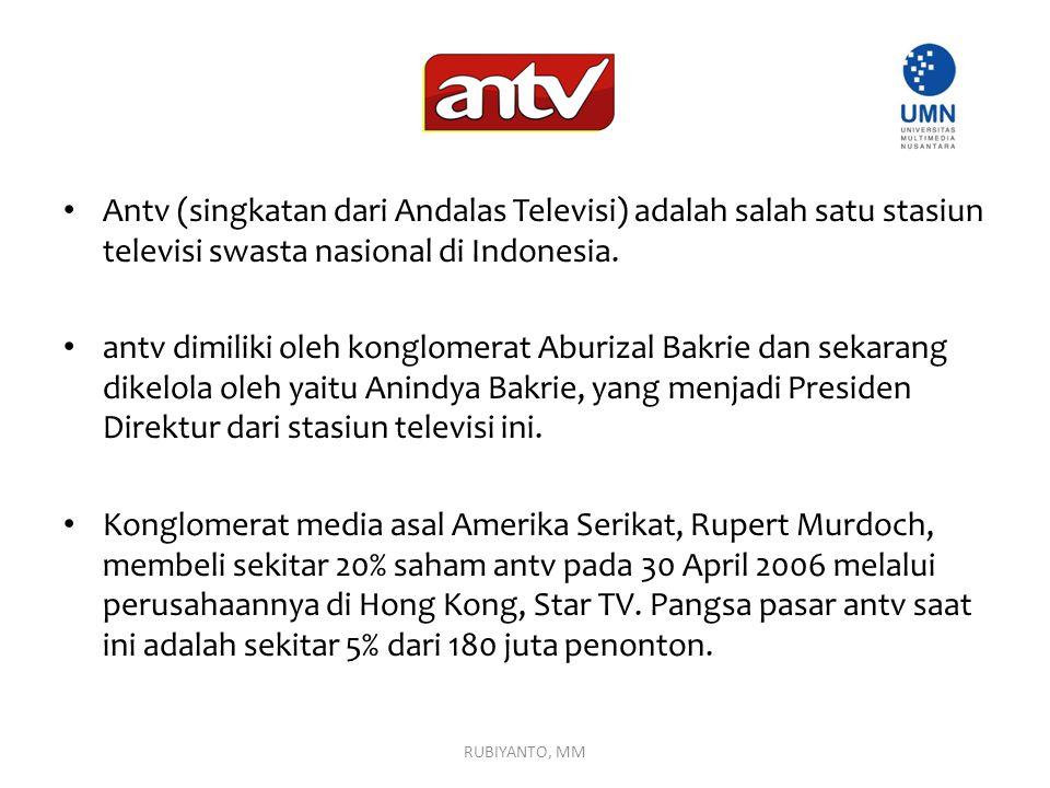Antv (singkatan dari Andalas Televisi) adalah salah satu stasiun televisi swasta nasional di Indonesia.