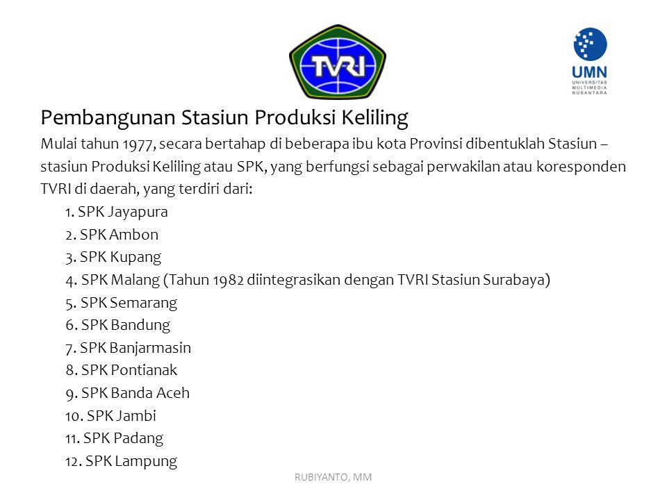 Pembangunan Stasiun Produksi Keliling