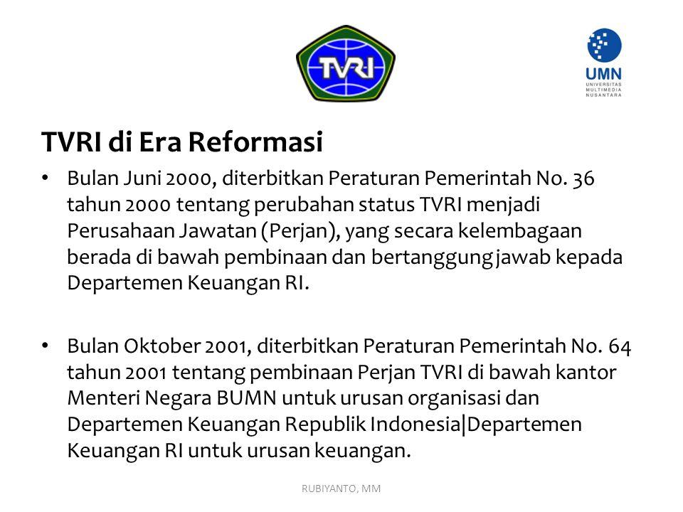 TVRI di Era Reformasi