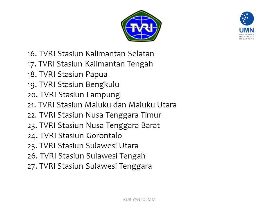 16. TVRI Stasiun Kalimantan Selatan 17