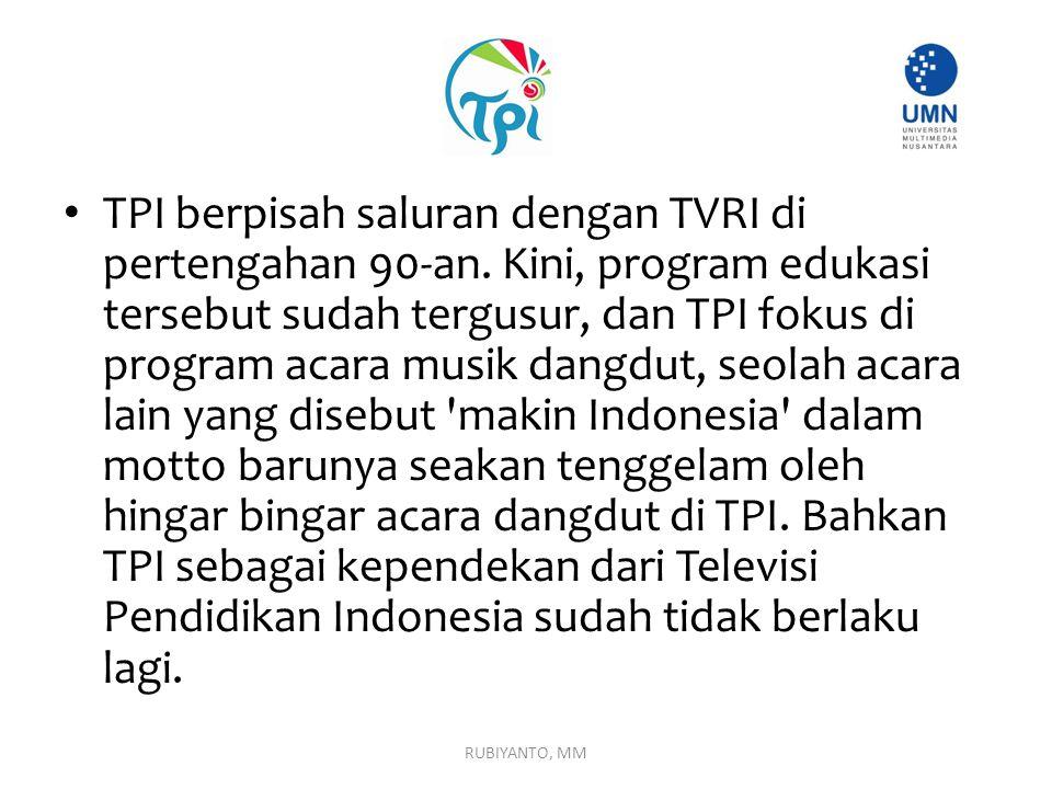 TPI berpisah saluran dengan TVRI di pertengahan 90-an