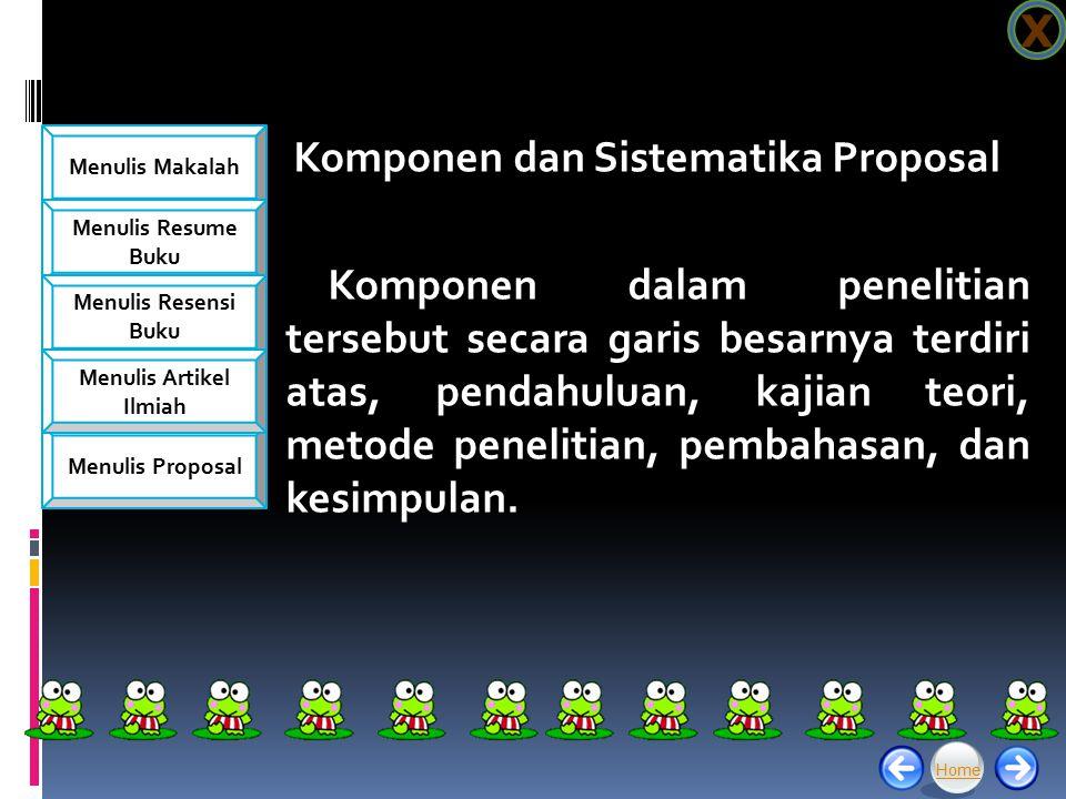 Komponen dan Sistematika Proposal