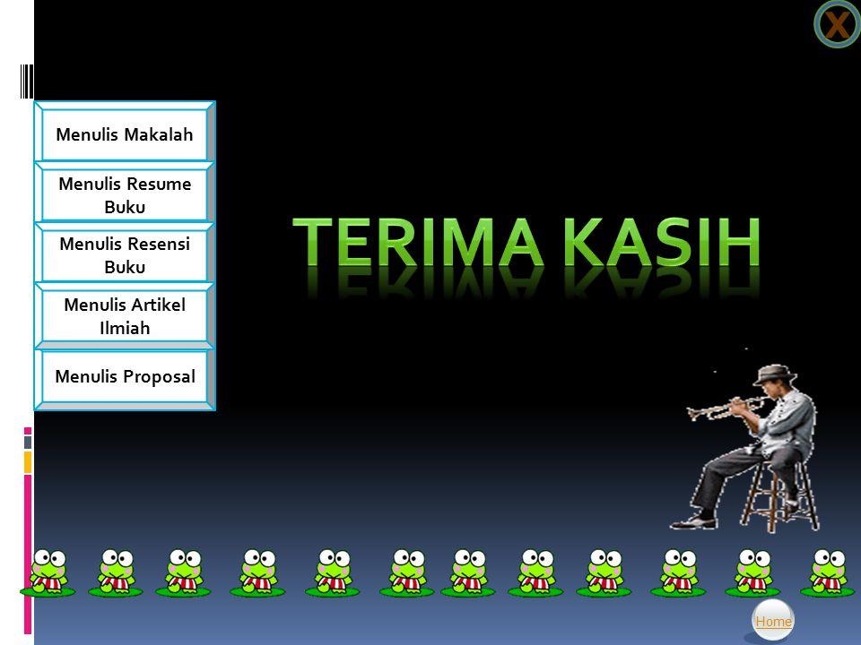X TERIMA KASIH Home