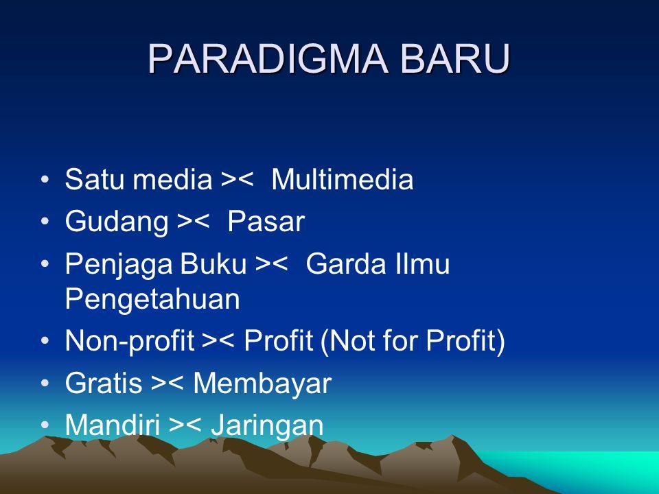 PARADIGMA BARU Satu media >< Multimedia Gudang >< Pasar