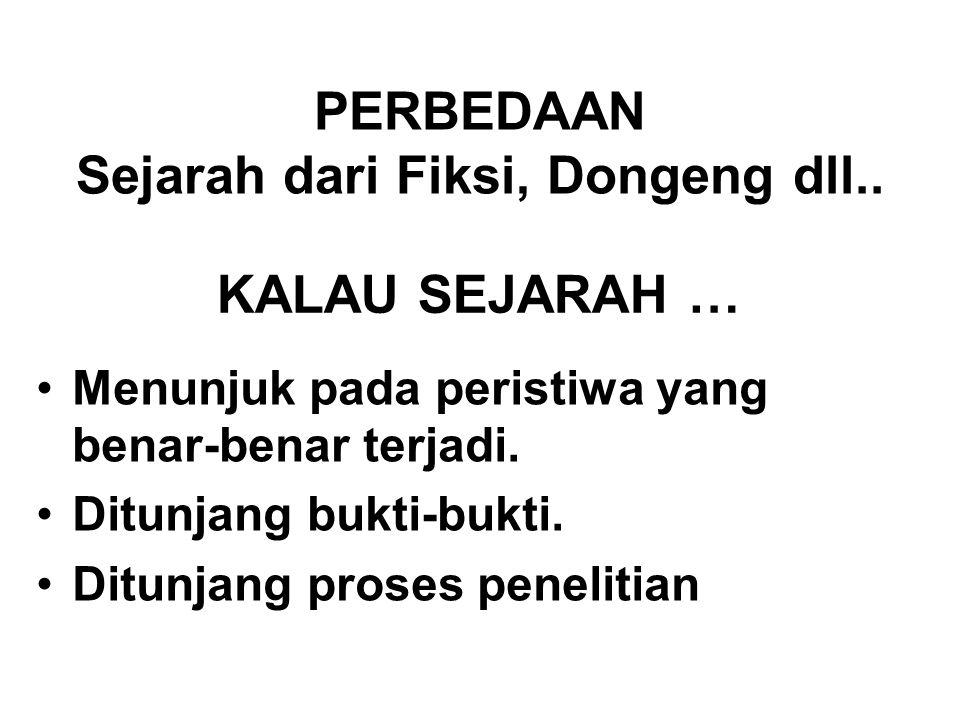 PERBEDAAN Sejarah dari Fiksi, Dongeng dll..