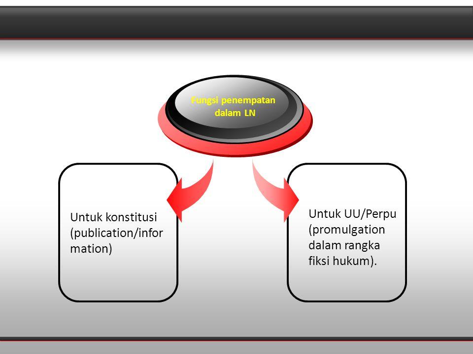 Diagram Untuk UU/Perpu (promulgation dalam rangka fiksi hukum).